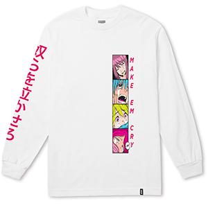 HUF Make Em Cry Pt 2 Longsleeve T-Shirt White