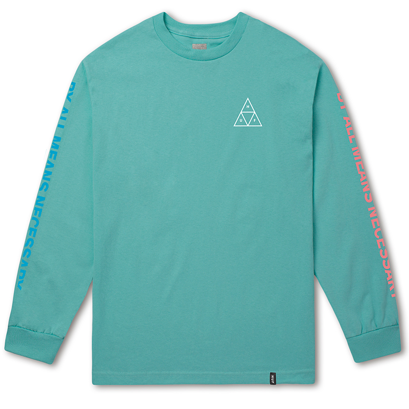 HUF Multi Triple Triangle Longsleeve T-Shirt Mint