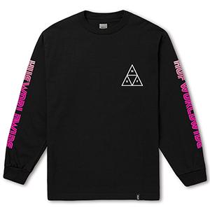 HUF Neo Triple Triangle Longsleeve T-Shirt Black