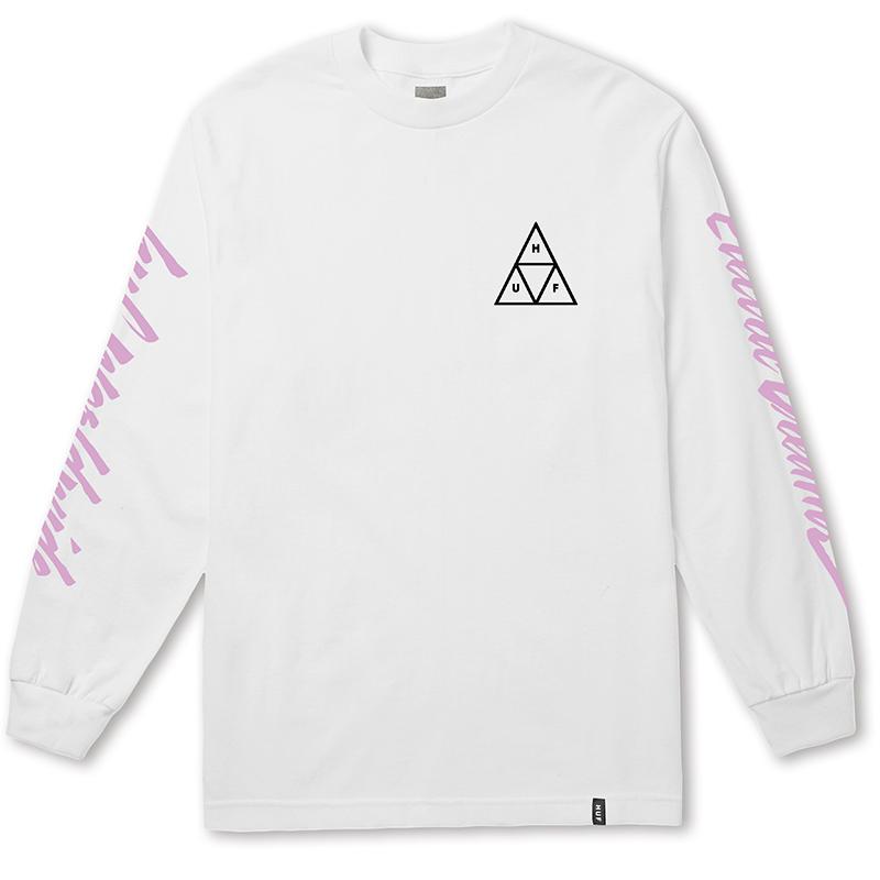 HUF Night Call Triple Triangle Longsleeve T-shirt White