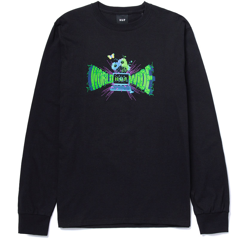 HUF Off-Line Longsleeve T-Shirt Black