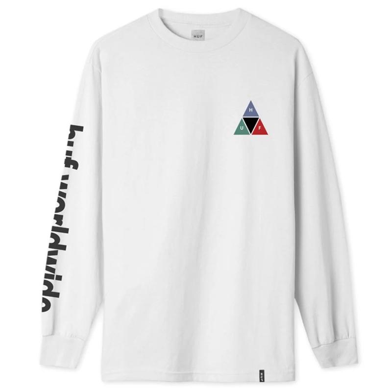HUF Prism TT Longsleeve T-Shirt White