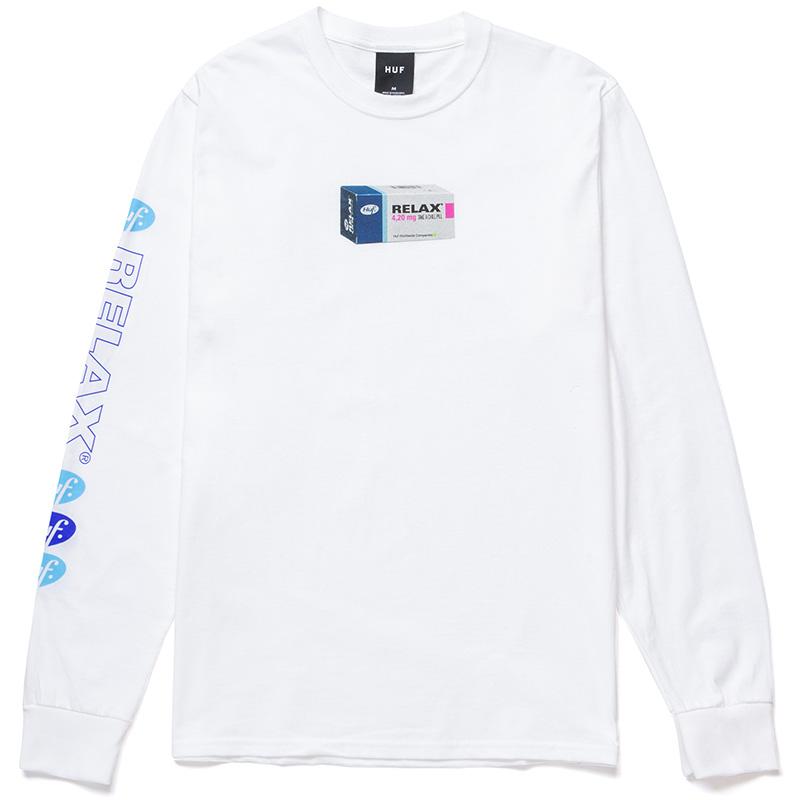 HUF Relax Longsleeve T-Shirt White