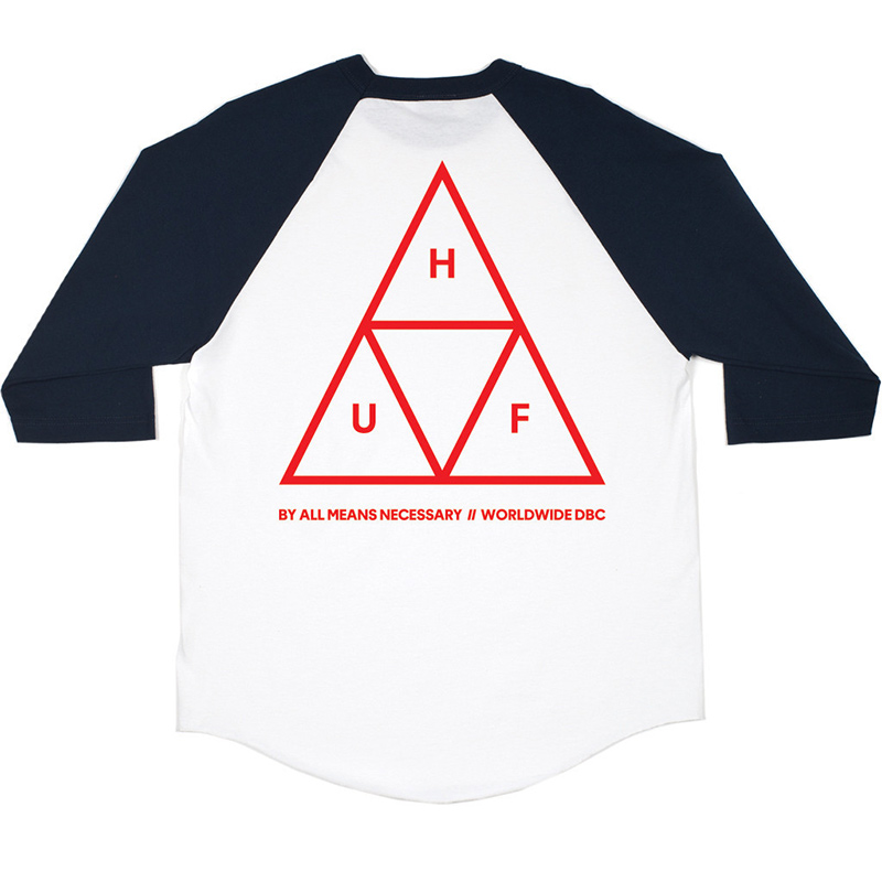 HUF Triple Triangle Longsleeve T-shirt Navy Heather