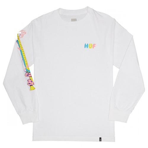 HUF Who Are U Longsleeve T-shirt White