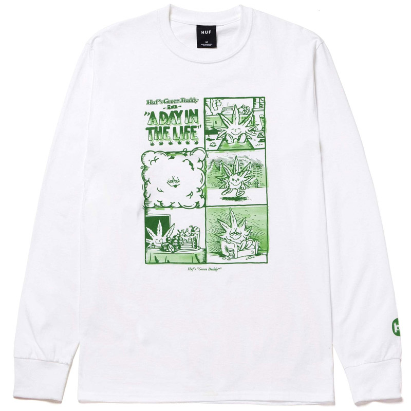 HUF X 420 Day In The Life Longsleeve T-Shirt White