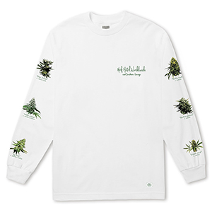 HUF X 420 Tropical Plants Longsleeve T-shirt White