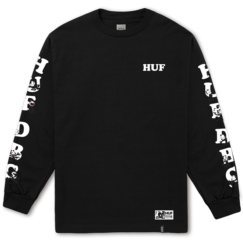 HUF X Felix The Cat Huf Dbc Longsleeve T-shirt Black