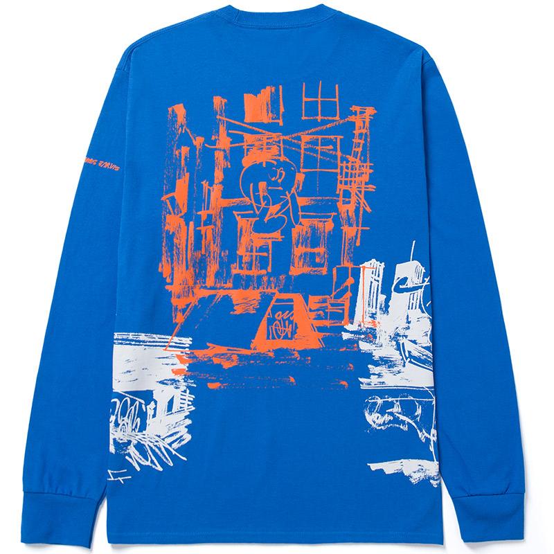 HUF X James Jarvis Longsleeve T-Shirt Royal