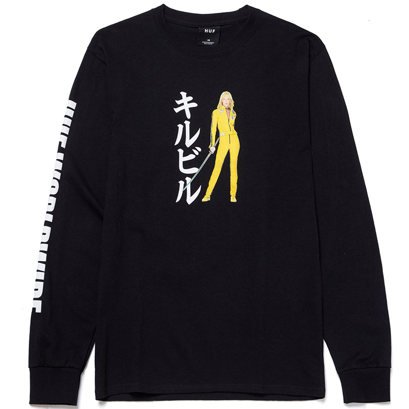 HUF X Kill Bill Black Mamba Longsleeve T-Shirt Black