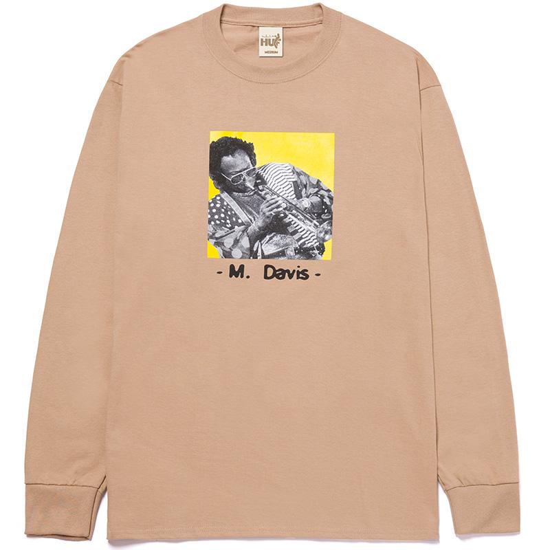 HUF X Miles Davis At Fillmore Longsleeve T-Shirt Sand