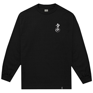 HUF X Peanuts Flying Ace Longsleeve T-Shirt Black
