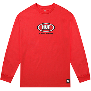 HUF X Real Cups And Jugs Longsleeve T-Shirt Red