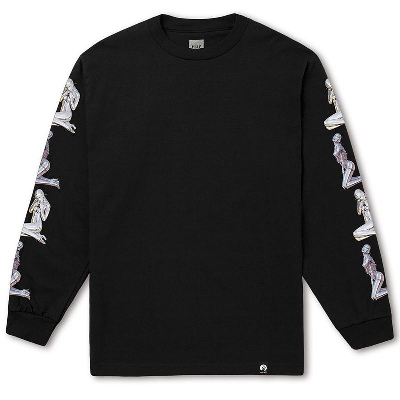 HUF X Sorayama Longsleeve T-Shirt Black