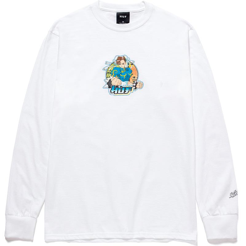 HUF X Streetfighter Chun-Li Longsleeve T-Shirt White
