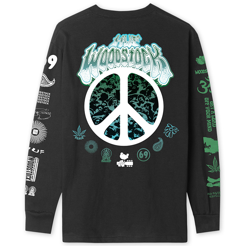 HUF X Woodstock Loaded Longsleeve T-Shirt Black