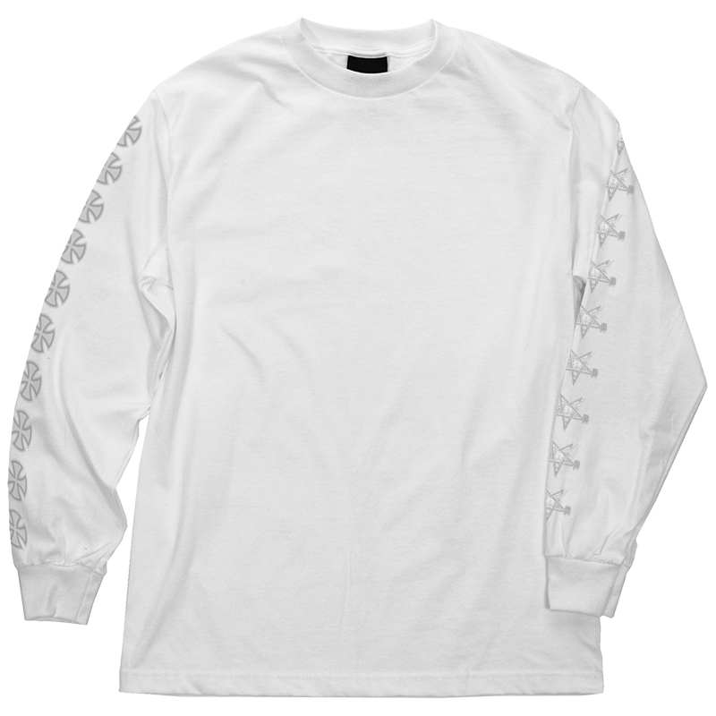 Independent x Thrasher Pentagram Cross Longsleeve T-shirt White
