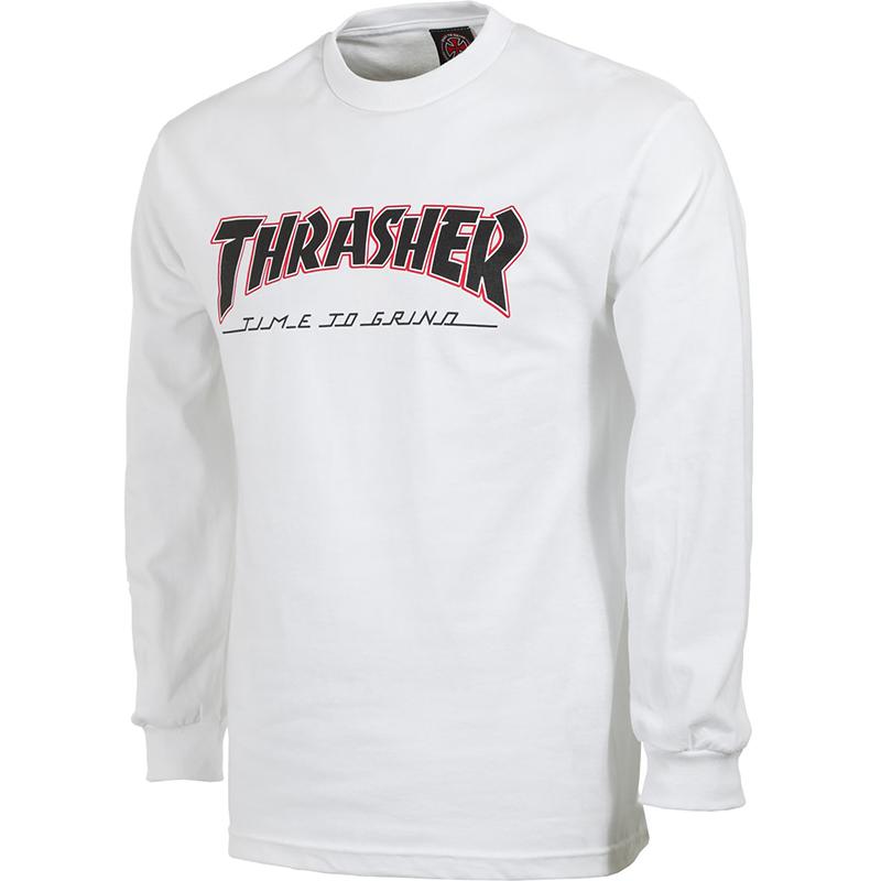 Independent X Thrasher TTG Longsleeve T-Shirt White