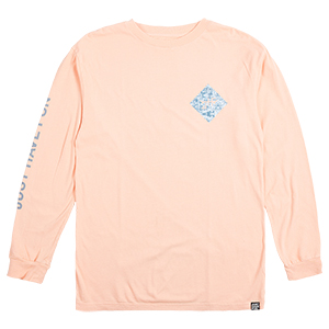 JHF All Caps Longsleeve T-Shirt Peach