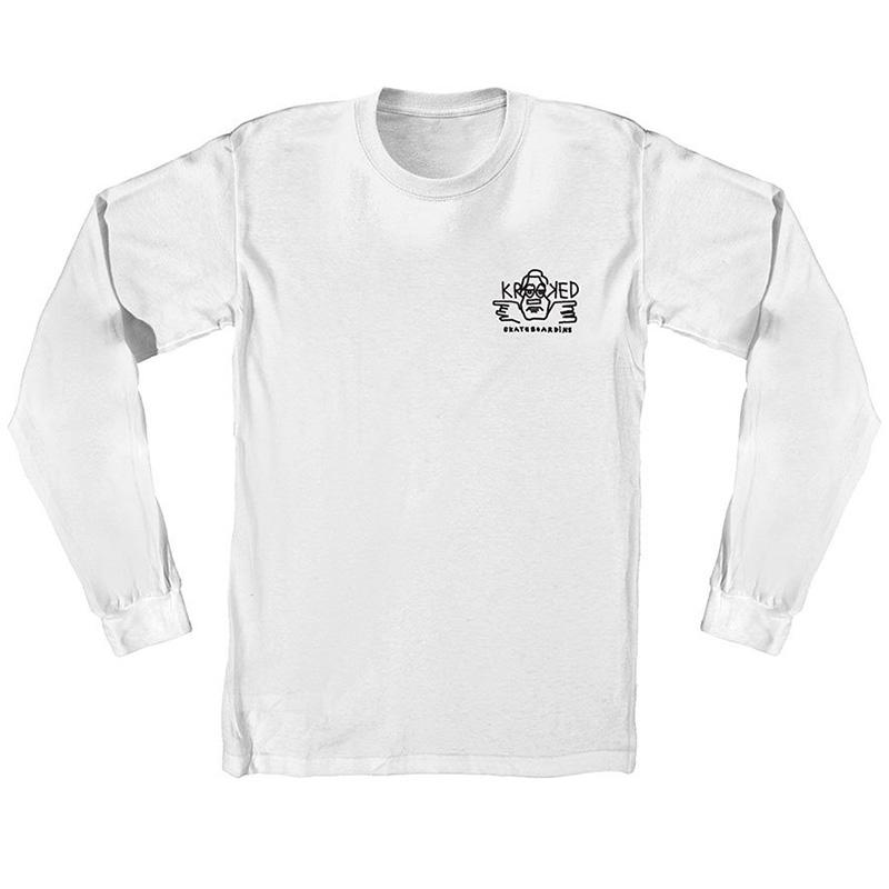 Krooked Arketype Longsleeve T-Shirt White
