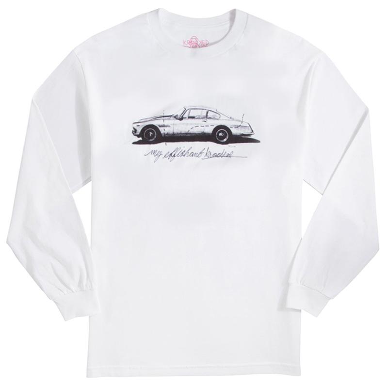 Krooked Effishant Longsleeve T-Shirt White