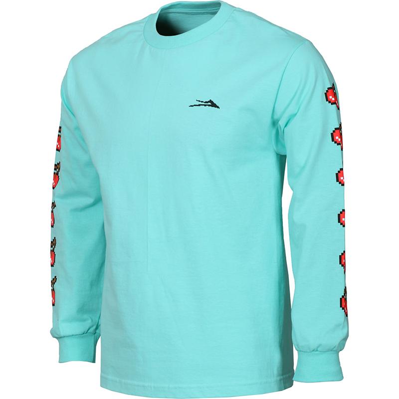 Lakai 8 Bit Longsleeve T-Shirt Celadon