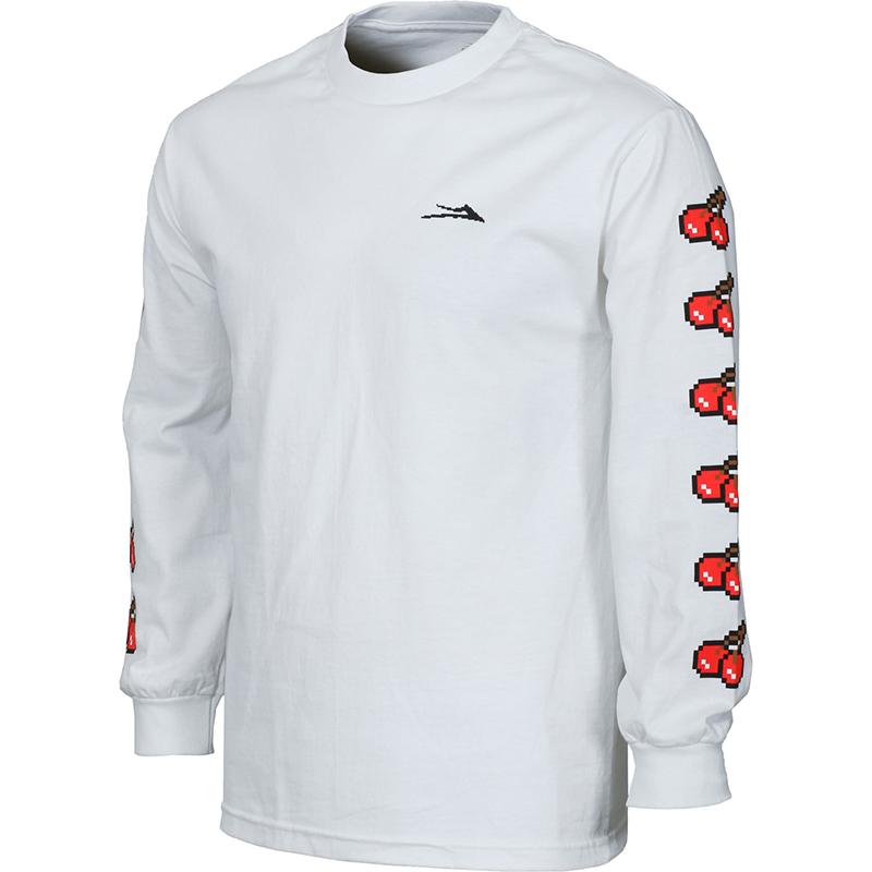 Lakai 8 Bit Longsleeve T-Shirt White