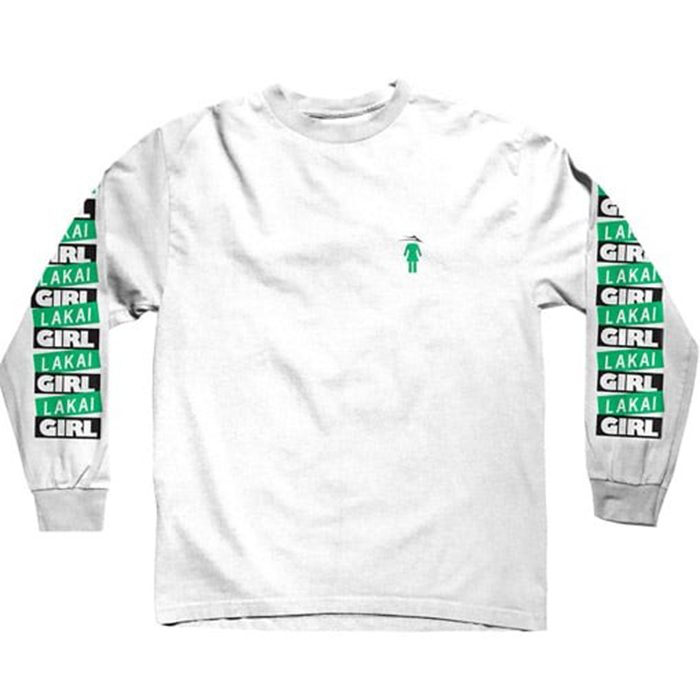Lakai x Girl Pasted Longsleeve T-Shirt White