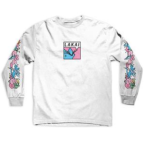 Lakai x Leon Karssen Box Cat Longsleeve T-Shirt White