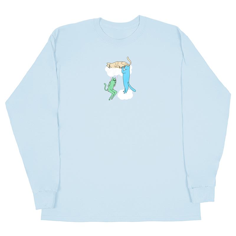 Leon Karssen Clouds Longsleeve T-Shirt Light Blue