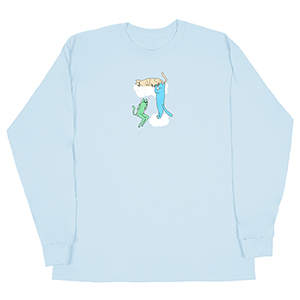 Leon Karssen Clouds Longsleeve T-Shirt Light Blue