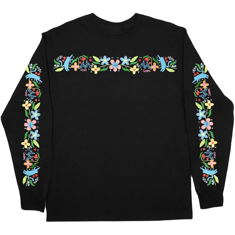 Leon Karssen Floralboi Longsleeve T-Shirt Black