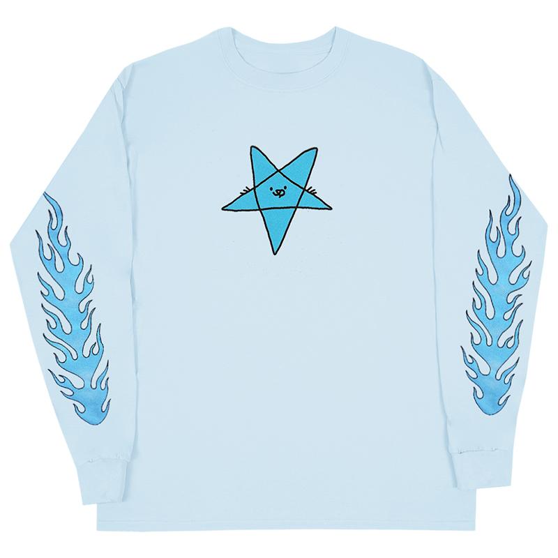 Leon Karssen Skatan Longsleeve T-shirt Light Blue
