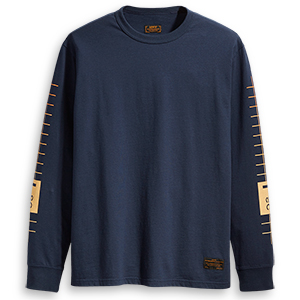 Levi's Graphic Longsleeve T-shirt Pool Gradient Orange