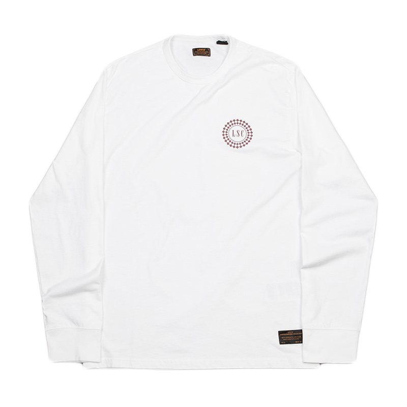 Levi´s Taxi Badge Longsleeve T-shirt Rose Brown
