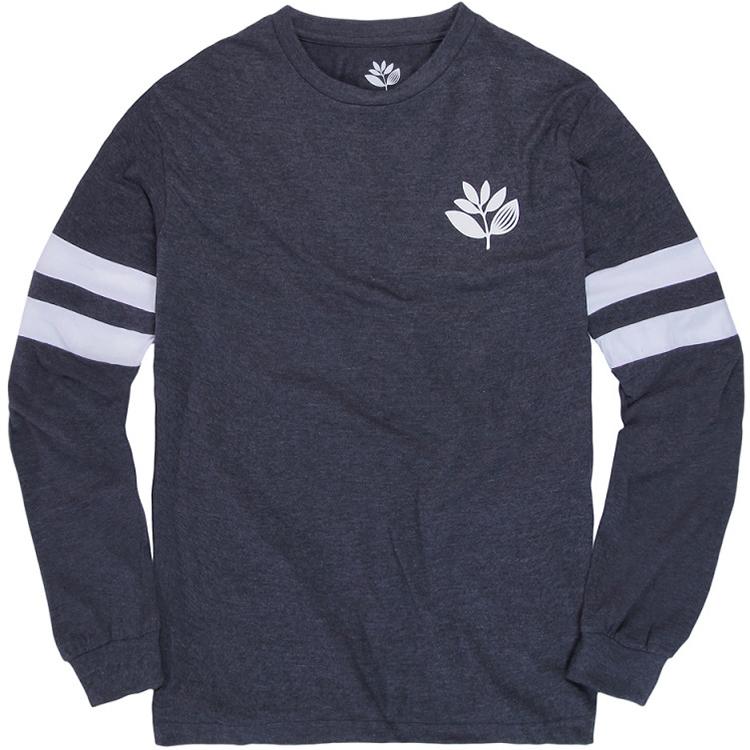 Magenta Team Longsleeve T-Shirt Dark Heather Grey