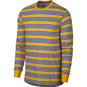 Nike SB Stripe Dry Longsleeve Top Yellow Ochre/Yellow Ochre
