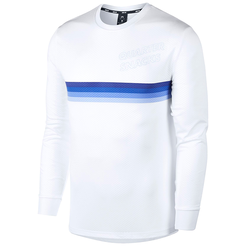 Nike SB X Quartersnacks Dry Longsleeve T-shirt White/Royal Pulse