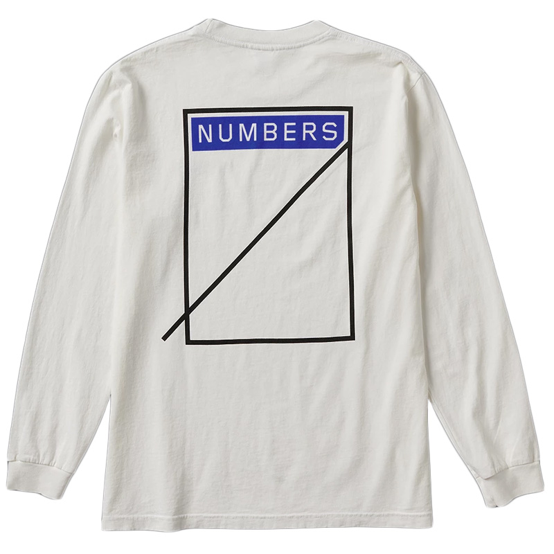 Numbers Logotype Longsleeve T-Shirt Off White