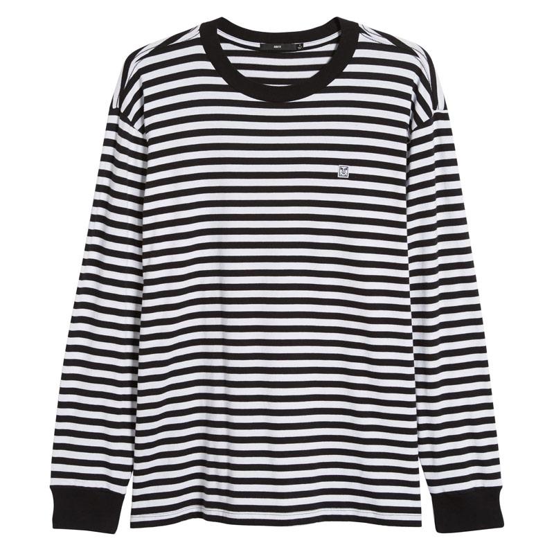 Obey 89 Icon Stripe Box II Longsleeve T-Shirt Black Multi