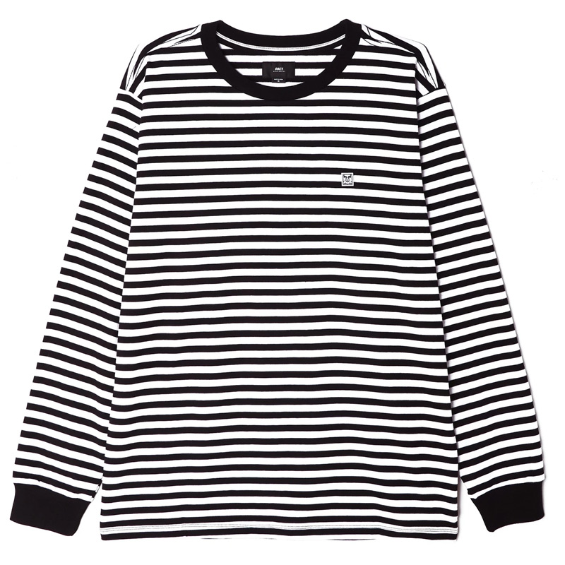 Obey 89 Icon Stripe Box Tee III Longsleeve T-Shirt Black Multi