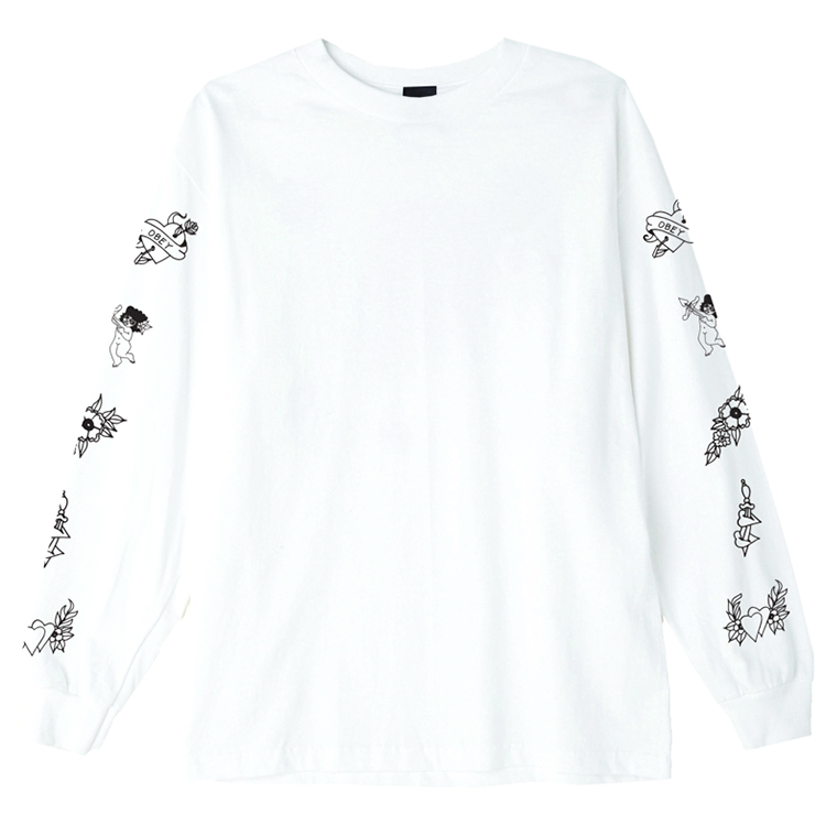 Obey Angels Longsleeve T-shirt White