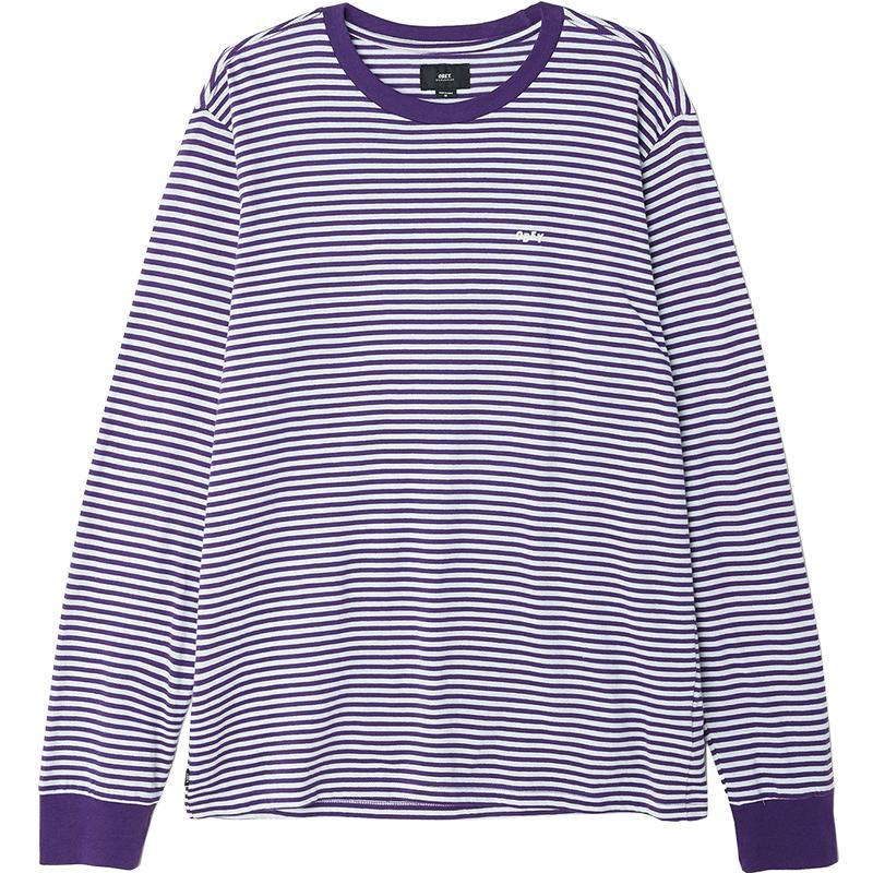 Obey Apex Longsleeve T-Shirt Purple Multi