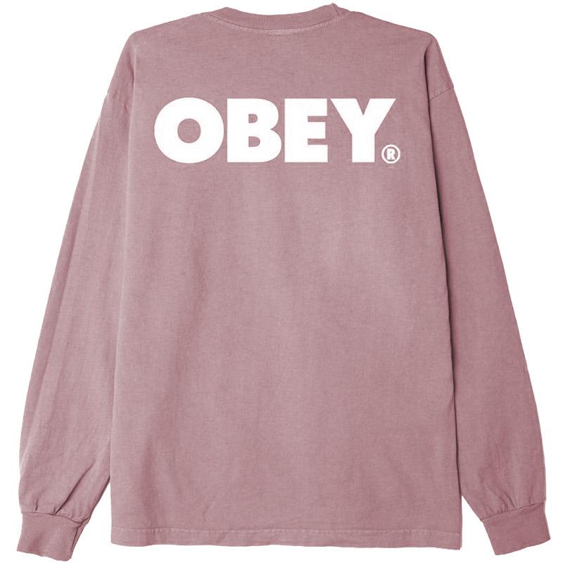 Obey Bold Longsleeve T-Shirt Gallnut