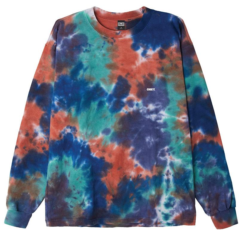 Obey Bold Longsleeve T-Shirt Iris Blotch