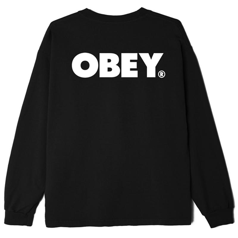 Obey Bold Longsleeve T-Shirt Off Black