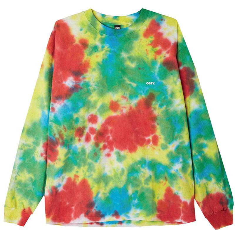Obey Bold Longsleeve T-Shirt Rainbow Blotch