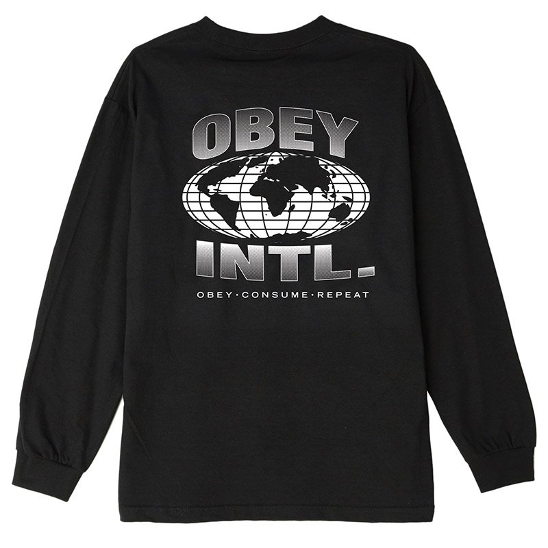 Obey Consume Repeat Intl T-Shirt Black