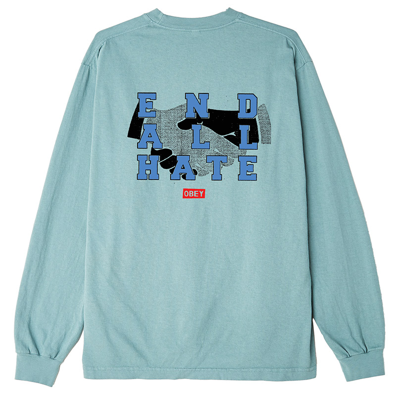 Obey End All Hate Longsleeve T-Shirt Atlantic Green