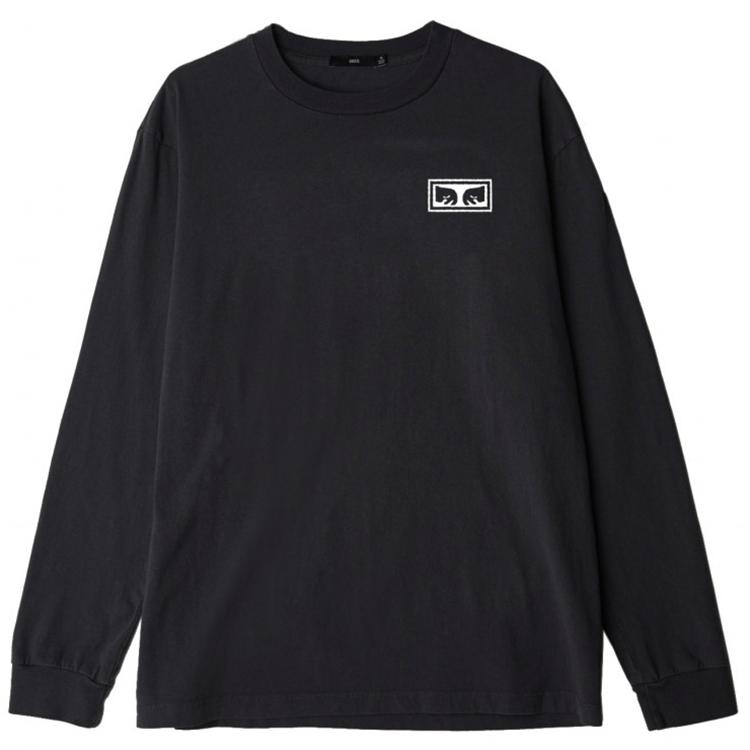 Obey Eyes 3 Longsleeve T-shirt Off Black